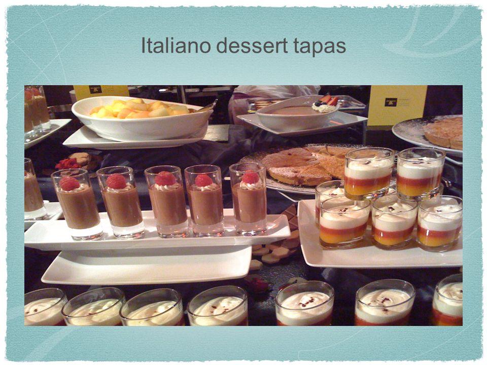 Italiano dessert tapas