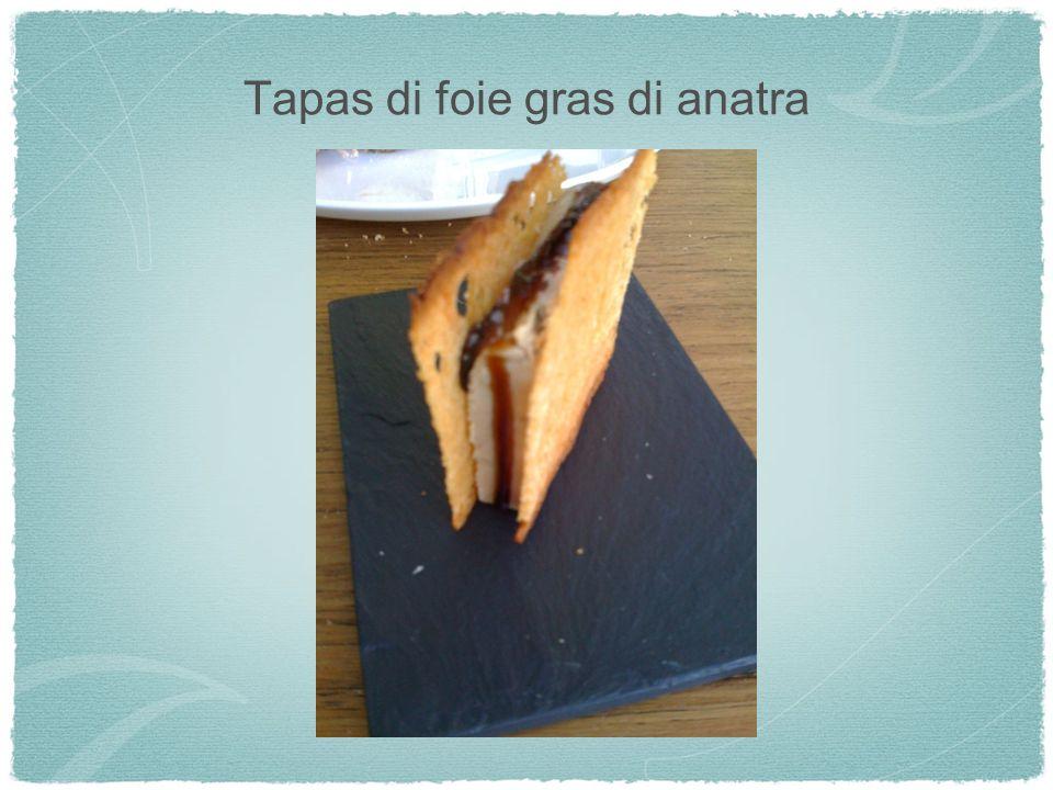 Tapas di foie gras di anatra