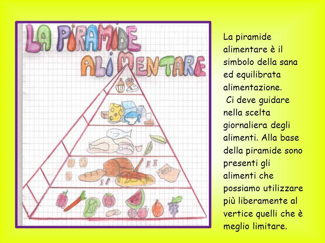 La piramide alimentare è il simbolo della sana ed equilibrata alimentazione. Ci deve guidare nella scelta giornaliera degli alimenti. Alla base della