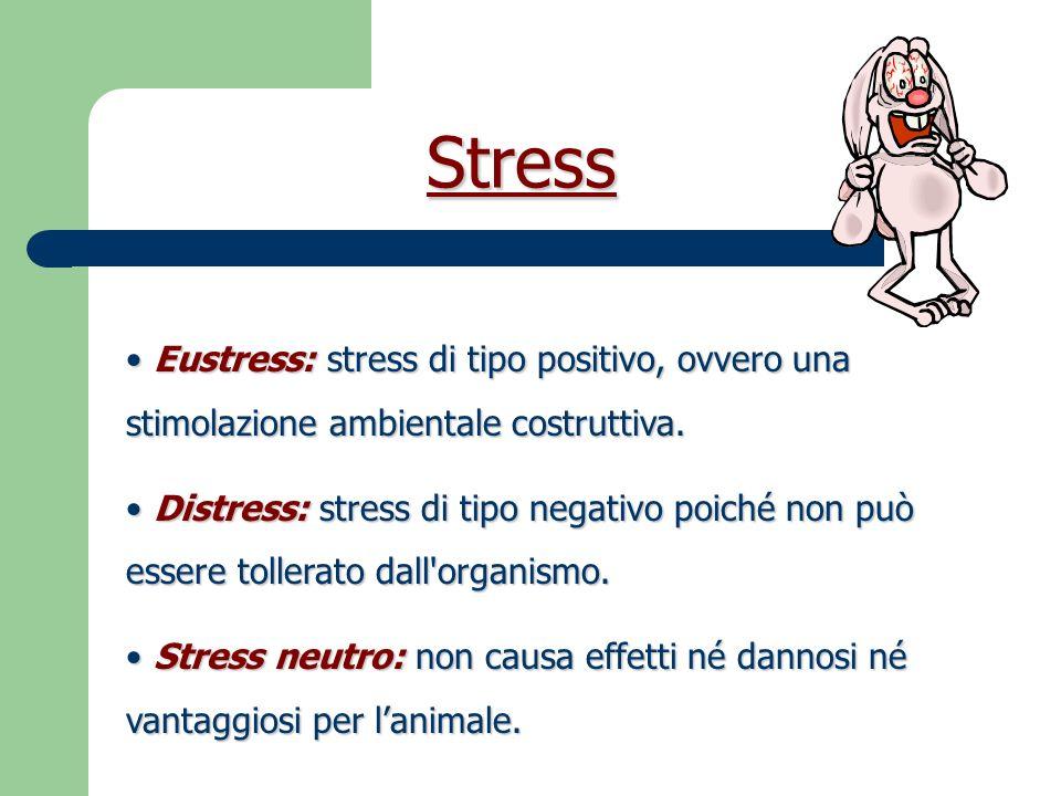 Risposta allo Stress Esperienza, età, specie, razza, stato psico-fisiologico.