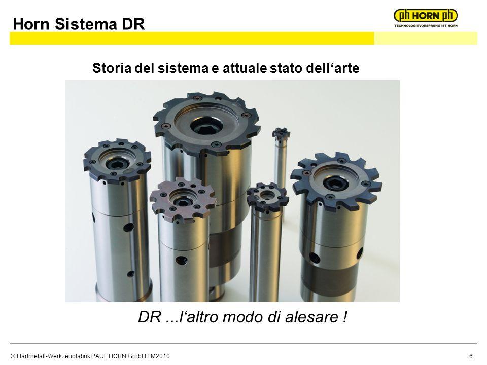 © Hartmetall-Werkzeugfabrik PAUL HORN GmbH TM2010 Storia del sistema e attuale stato dellarte DR...laltro modo di alesare ! Horn Sistema DR 6