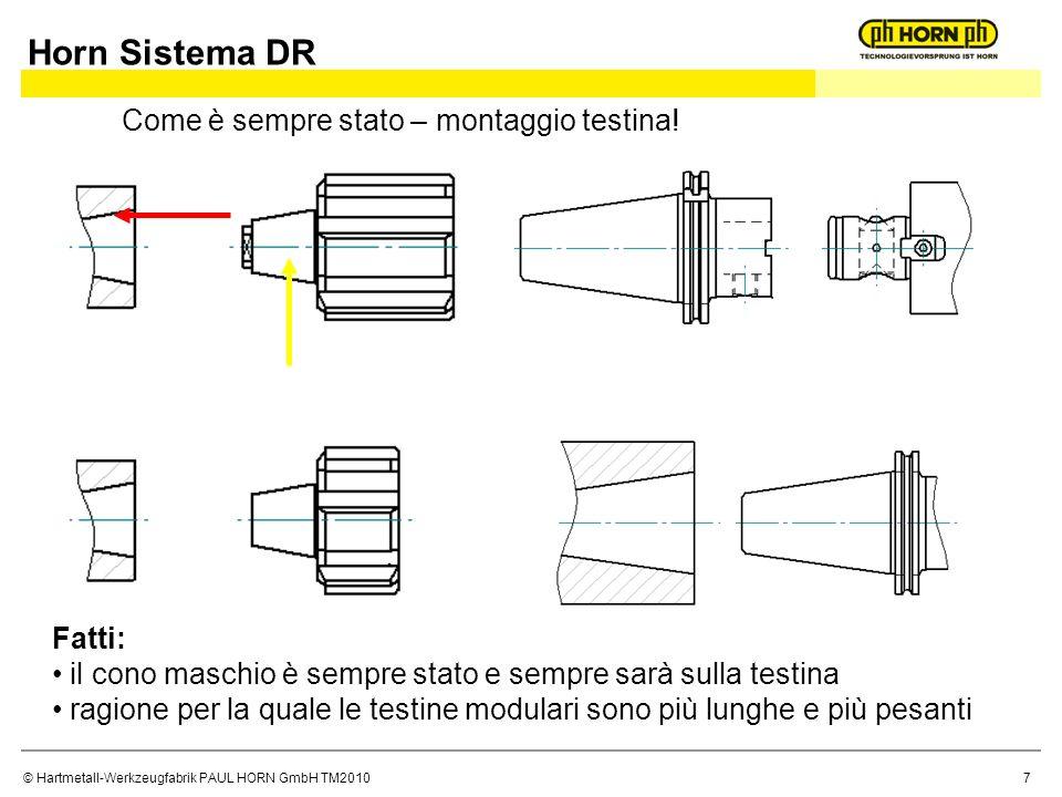 © Hartmetall-Werkzeugfabrik PAUL HORN GmbH TM2010 Come è sempre stato – montaggio testina.