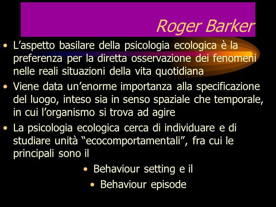 La ricerca osservativa nella psicologia ecologica Con il termine ecologia si intende lo studio della relazione che gli organismi viventi hanno gli uni