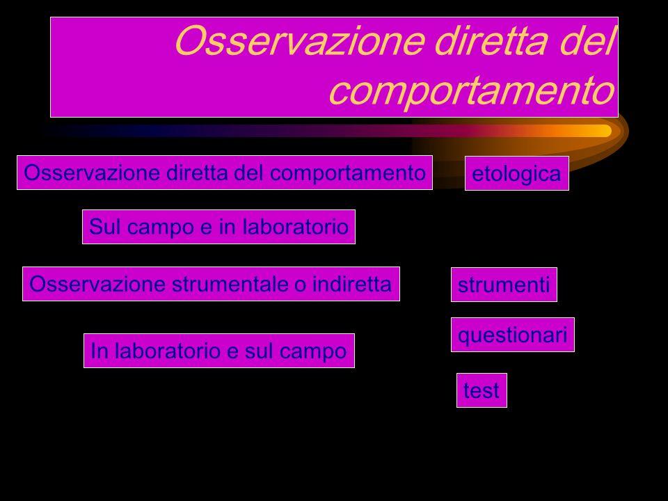 Piano di osservazione Obiettivi della ricerca Possibilità di procedere a osservazioni Precisione, potenza, efficacia Scelta di una tassonomia I modelli di c.