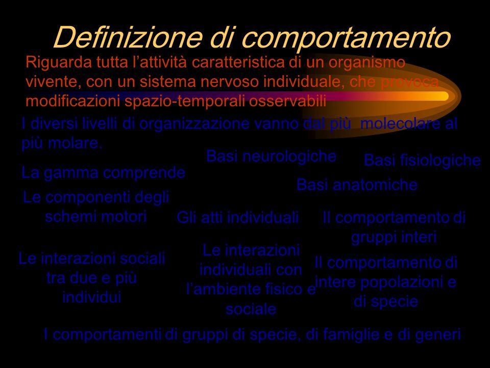 Classificazione secondo gli effetti Molti comportamenti hanno effetti diretti sullambiente vantaggi svantaggi Una sola espressione riassume una descrizione dettagliata Perdita di dettagliPerdita di informazioni