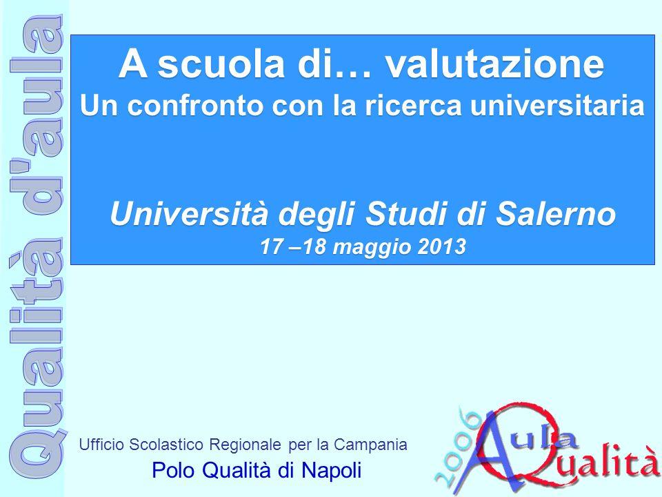 Ufficio Scolastico Regionale per la Campania Polo Qualità di Napoli A scuola di… valutazione Un confronto con la ricerca universitaria Università degl