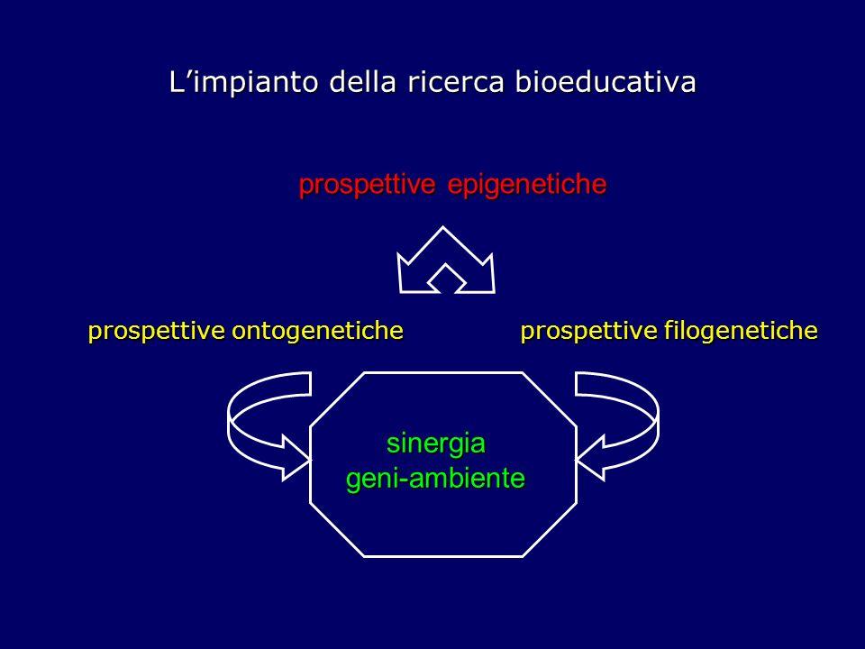 Limpianto della ricerca bioeducativa Le prospettive epigenetiche dimensione formativa lungo tutto larco della vita plasticità biologica strutturale e funzionale evoluzione della mente e problemi adattivi continua ricerca di fit behaviour