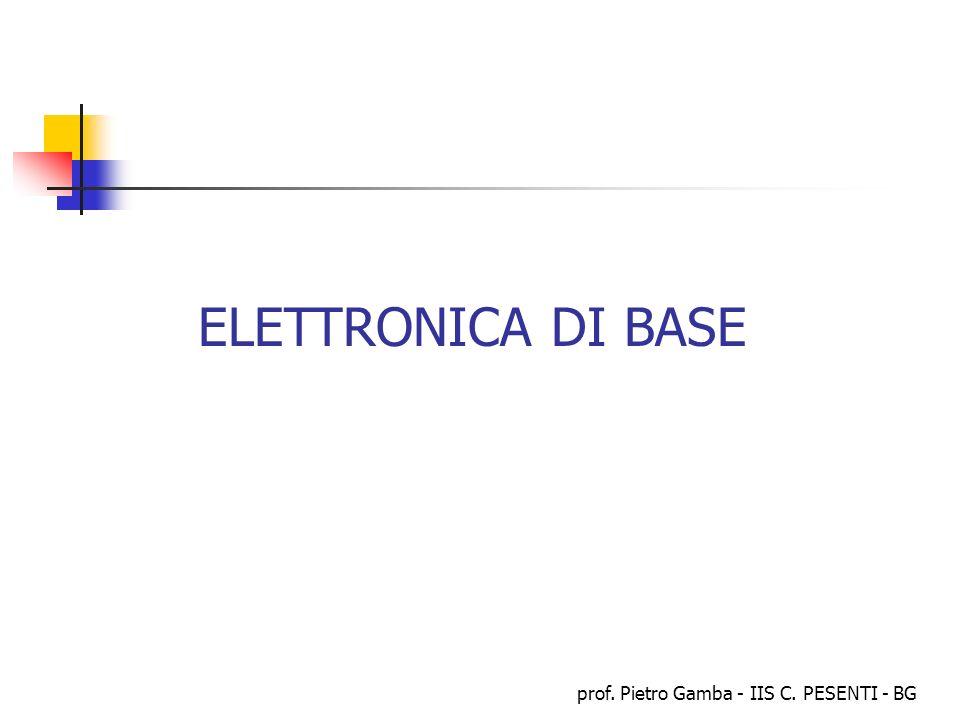 prof. Pietro Gamba - IIS C. PESENTI - BG ELETTRONICA DI BASE