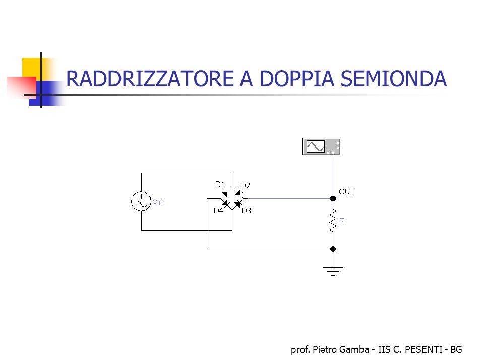 prof. Pietro Gamba - IIS C. PESENTI - BG RADDRIZZATORE A DOPPIA SEMIONDA