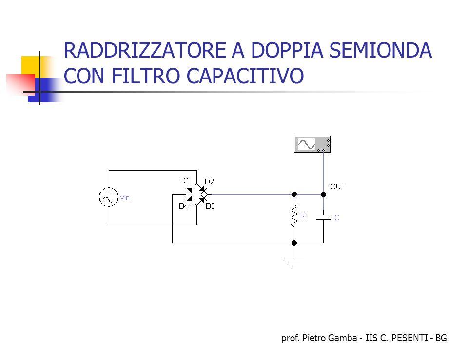 prof. Pietro Gamba - IIS C. PESENTI - BG RADDRIZZATORE A DOPPIA SEMIONDA CON FILTRO CAPACITIVO
