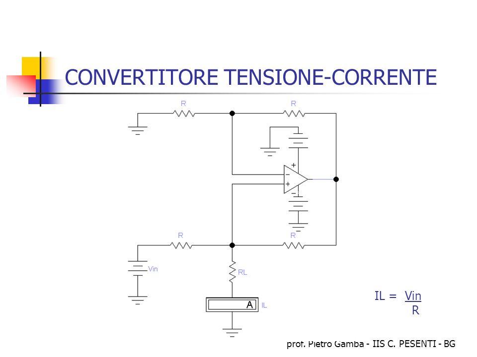prof. Pietro Gamba - IIS C. PESENTI - BG CONVERTITORE TENSIONE-CORRENTE IL = Vin R