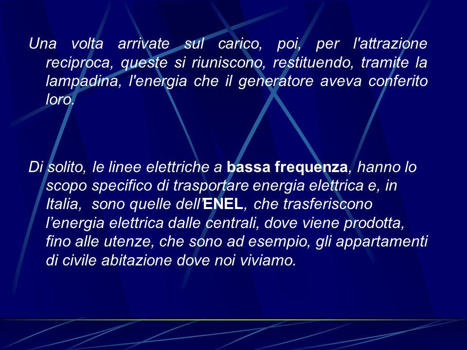 Le linee elettriche a radiofrequenza, invece, di solito trasportano piuttosto informazioni, e sono ad esempio, la linea telefonica, il cavo dellantenna televisiva, il cavo dei baracchini, delle radio radioamatoriali e così via.