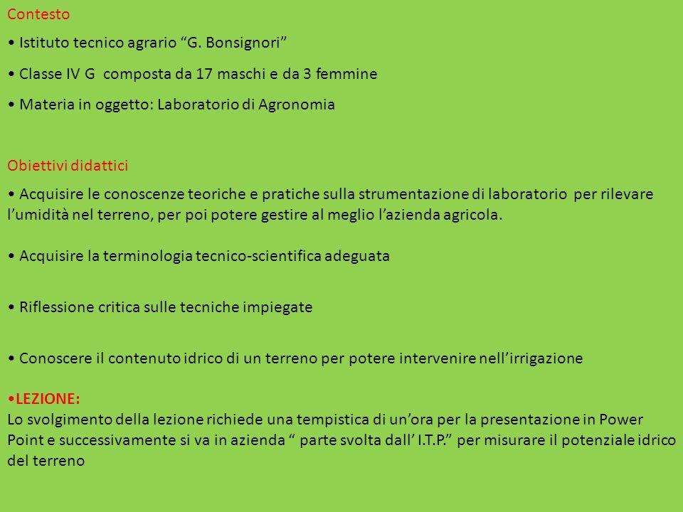 Contesto Istituto tecnico agrario G.