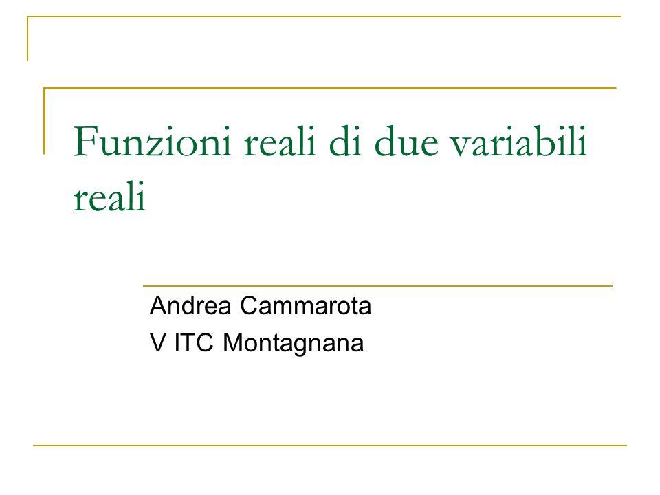 Funzioni reali di due variabili reali Andrea Cammarota V ITC Montagnana