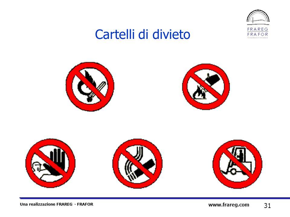 Una realizzazione FRAREG - FRAFOR 31 www.frareg.com Cartelli di divieto
