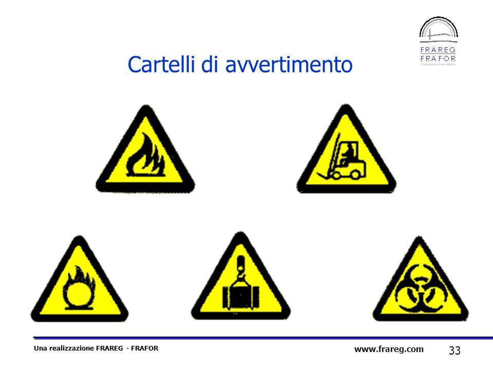 Una realizzazione FRAREG - FRAFOR 33 www.frareg.com Cartelli di avvertimento