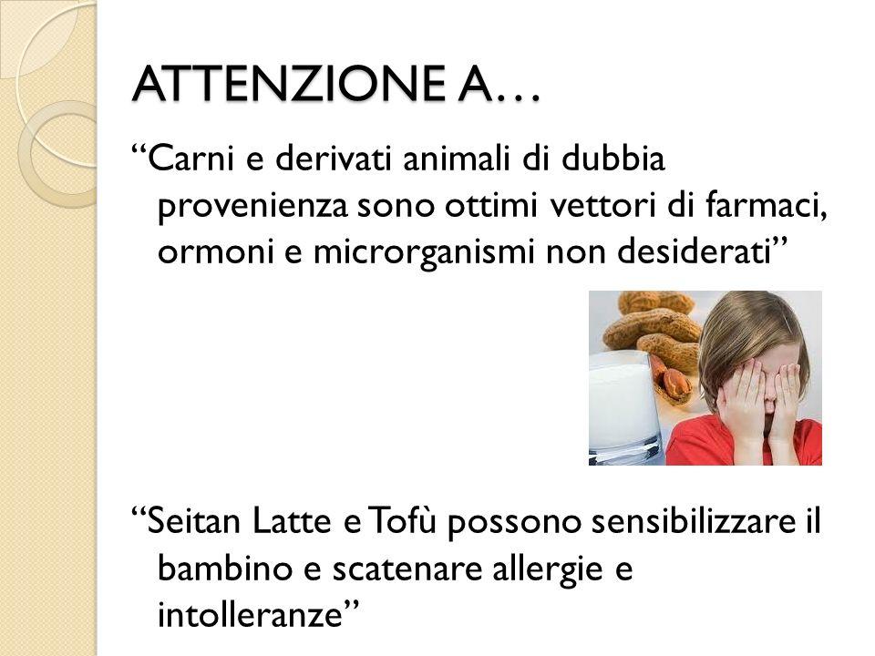 ATTENZIONE A… Carni e derivati animali di dubbia provenienza sono ottimi vettori di farmaci, ormoni e microrganismi non desiderati Seitan Latte e Tofù