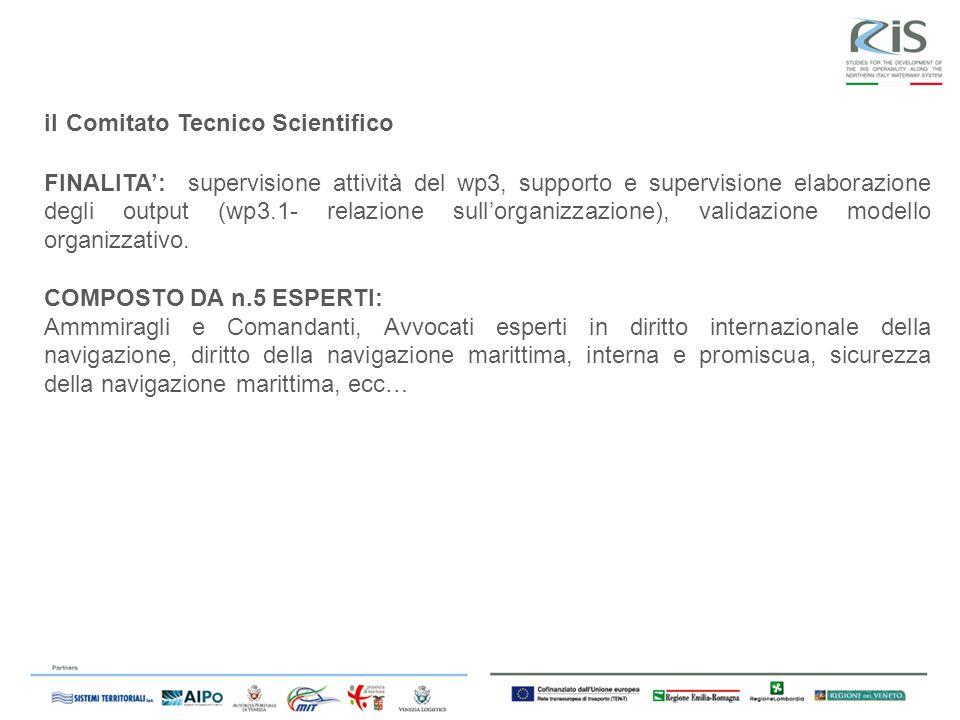 il Comitato Tecnico Scientifico FINALITA: supervisione attività del wp3, supporto e supervisione elaborazione degli output (wp3.1- relazione sullorganizzazione), validazione modello organizzativo.