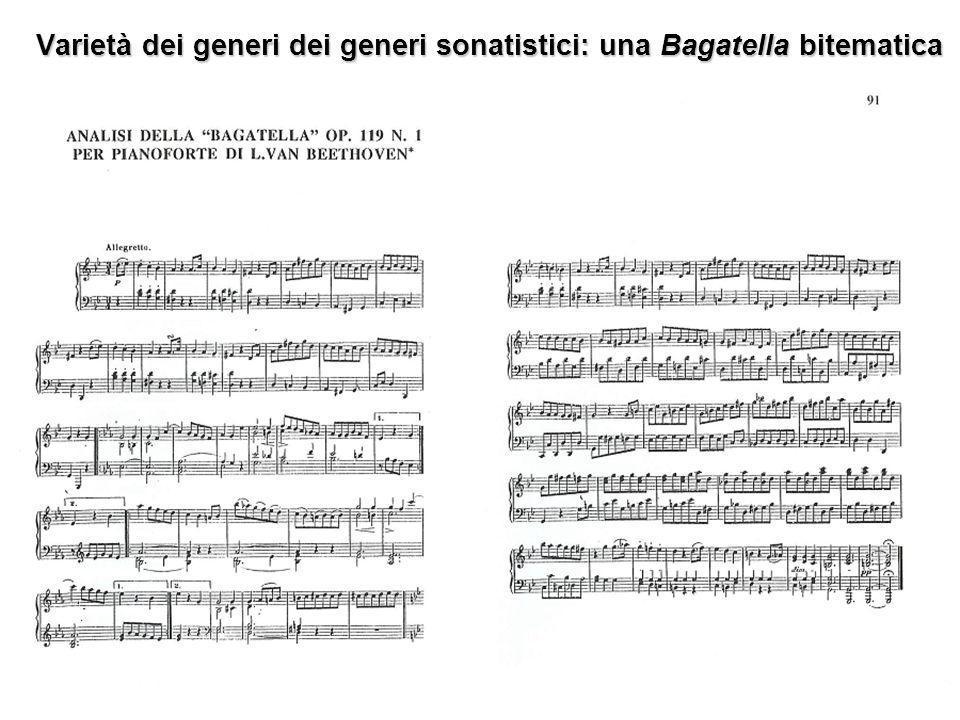 Varietà dei generi dei generi sonatistici: una Bagatella bitematica