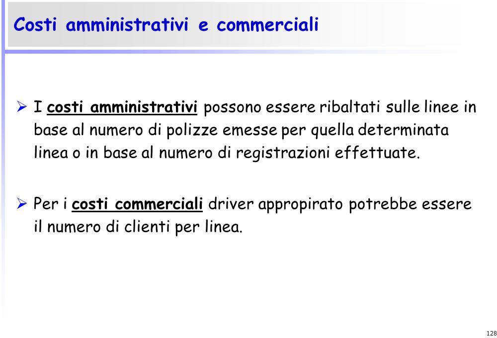 127 Il costo di linea è rappresentato da: Commissione agli agenti, per i porti in cui ci si avvale di agenzie terze; Costi di gestione degli uffici pe