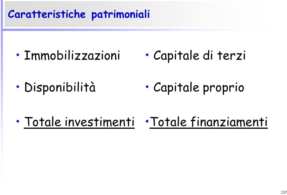 136 le condizioni di operatività Per valutare le condizioni di operatività dell'impresa occorre accertare: L'efficienza: capacità dell'impresa di util