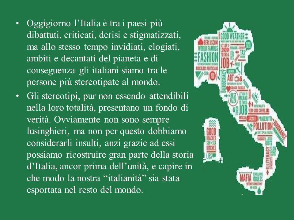 Oggigiorno lItalia è tra i paesi più dibattuti, criticati, derisi e stigmatizzati, ma allo stesso tempo invidiati, elogiati, ambiti e decantati del pi