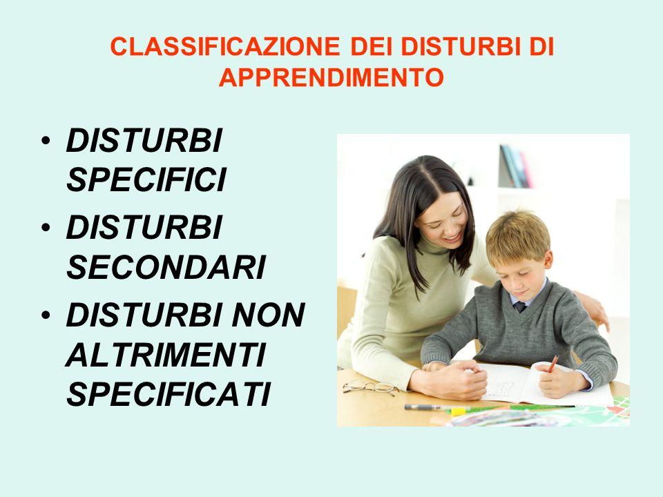 Per DISTURBI DELLAPPRENDIMENTO si intende lalterata abilità di apprendere specifiche discipline scolastiche rispetto allo stadio di sviluppo del bambi