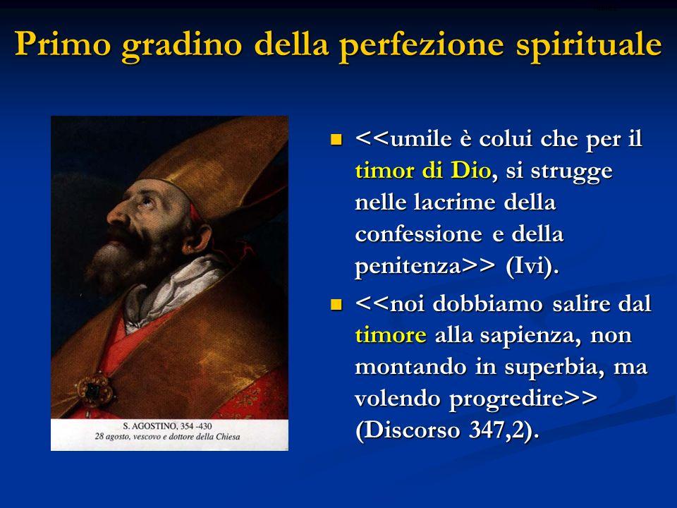 Primo gradino della perfezione spirituale > (Ivi). > (Ivi). > (Discorso 347,2). > (Discorso 347,2). ritardo