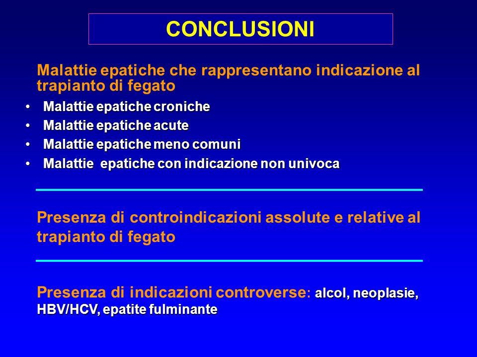 Malattie epatiche che rappresentano indicazione al trapianto di fegato Malattie epatiche cronicheMalattie epatiche croniche Malattie epatiche acuteMal