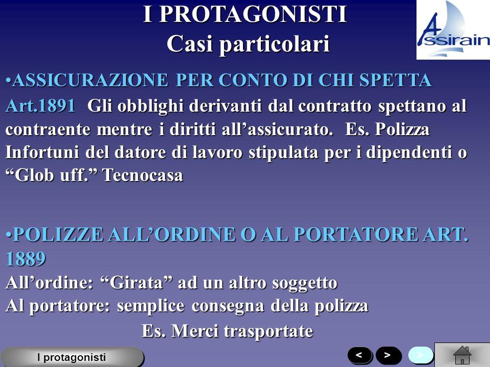 I PROTAGONISTI > > > > I protagonisti