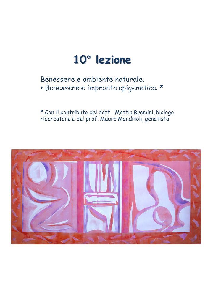 10° lezione Benessere e ambiente naturale. Benessere e impronta epigenetica. * * Con il contributo del dott. Mattia Bramini, biologo ricercatore e del