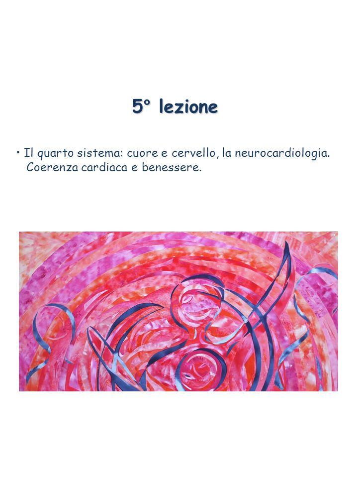 5° lezione Il quarto sistema: cuore e cervello, la neurocardiologia. Coerenza cardiaca e benessere.