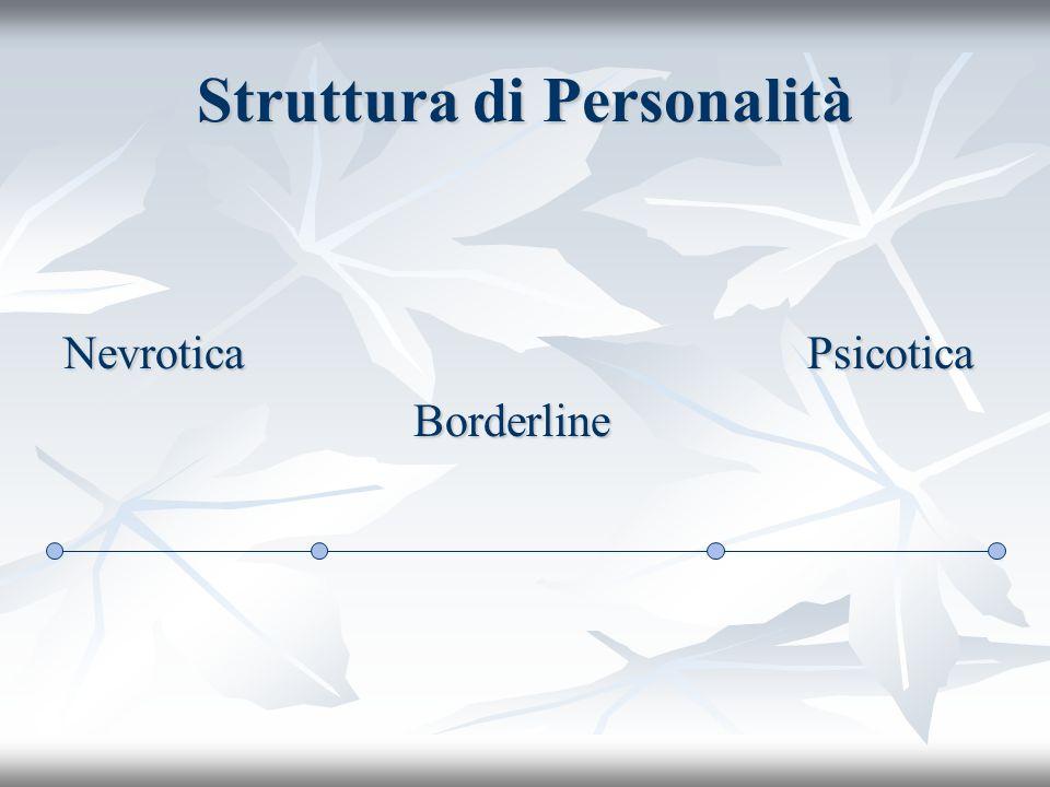 Struttura di Personalità Nevrotica Psicotica Borderline Borderline