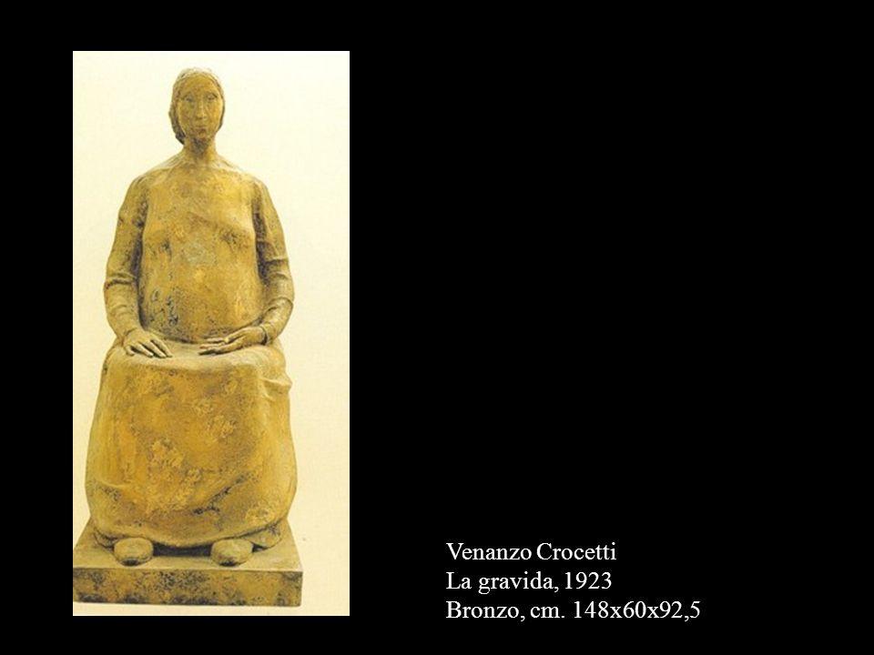 Venanzo Crocetti La gravida, 1923 Bronzo, cm. 148x60x92,5