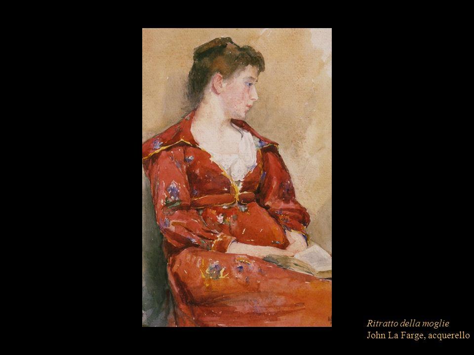 Ritratto della moglie John La Farge, acquerello