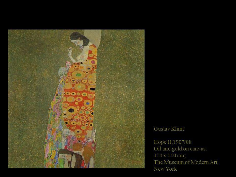 Gustav Klimt Hope I; 1903. Oil on canvas; 189 x 67 cm. National Gallery of Canada, Ottawa