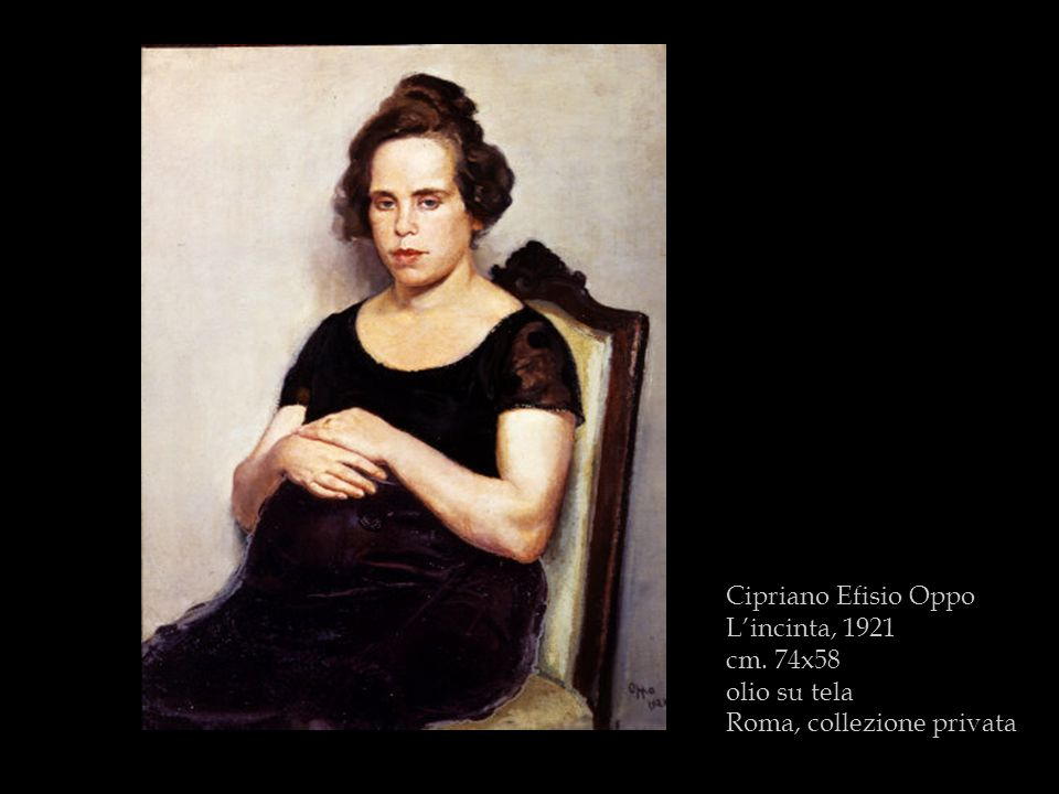 Cipriano Efisio Oppo Lincinta, 1921 cm. 74x58 olio su tela Roma, collezione privata
