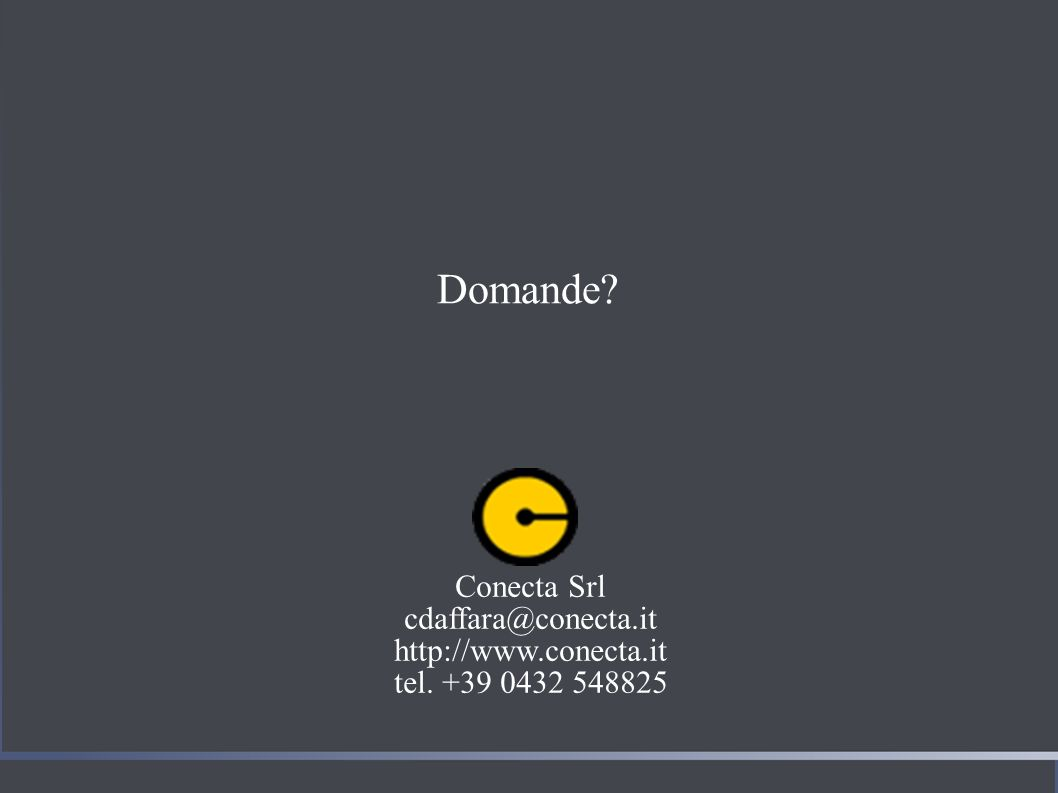 Domande Conecta Srl cdaffara@conecta.it http://www.conecta.it tel. +39 0432 548825