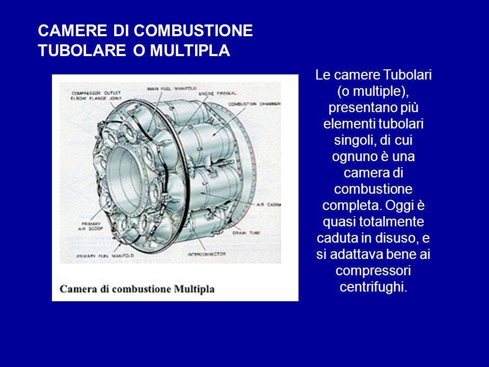 CAMERE DI COMBUSTIONE TUBOLARE O MULTIPLA Le camere Tubolari (o multiple), presentano più elementi tubolari singoli, di cui ognuno è una camera di com