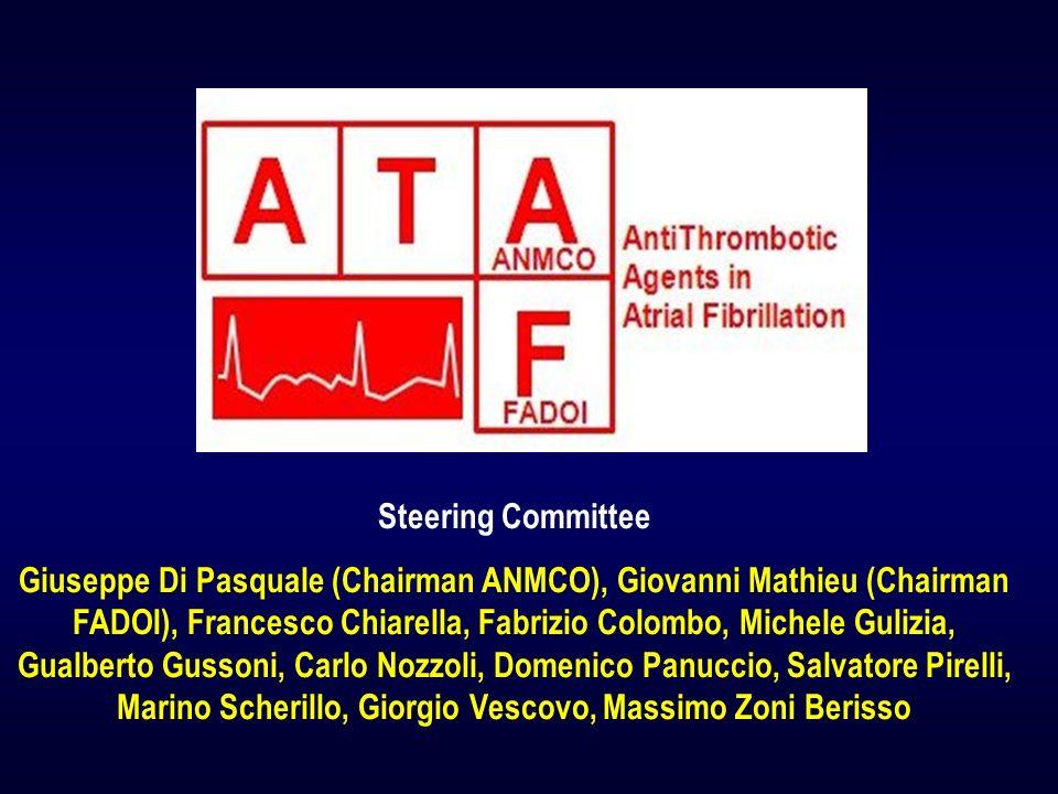 Steering Committee Giuseppe Di Pasquale (Chairman ANMCO), Giovanni Mathieu (Chairman FADOI), Francesco Chiarella, Fabrizio Colombo, Michele Gulizia, G