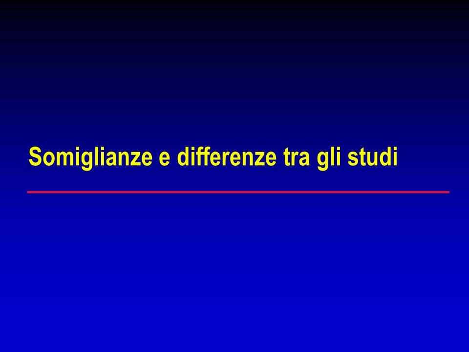 Somiglianze e differenze tra gli studi