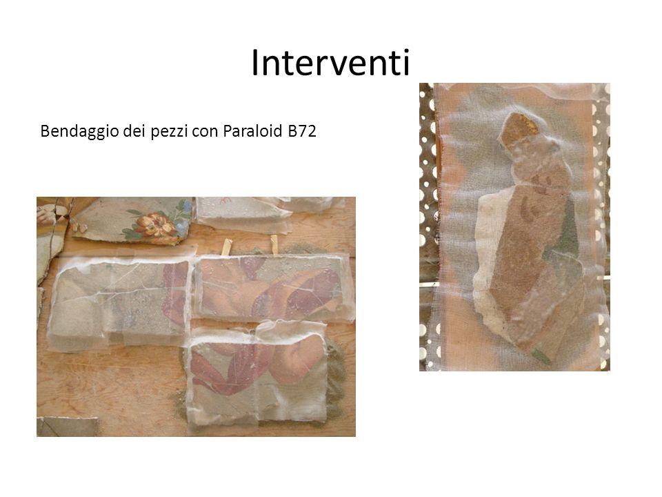 Interventi Bendaggio dei pezzi con Paraloid B72