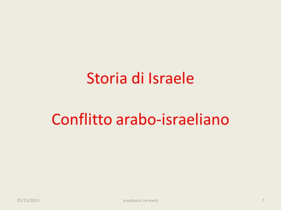 Storia di Israele Conflitto arabo-israeliano 05/11/2013anastasio carmelo7