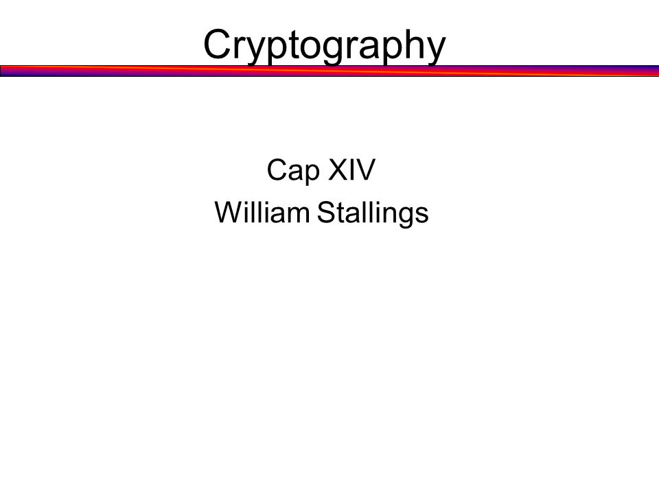 Cryptography Cap XIV William Stallings