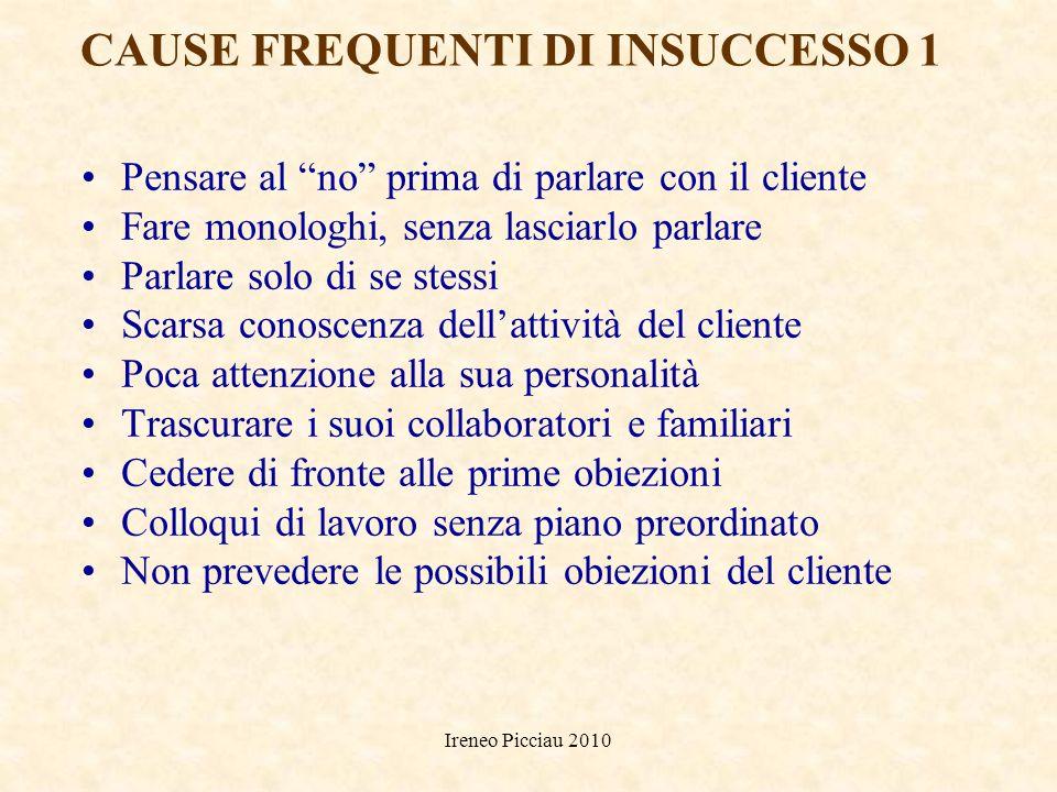 Ireneo Picciau 2010 CARATTERISTICHE DI PERSONALITA DEL VENDITORE IDEALE COMPRENSIONE ADATTABILITA AUTOCONTROLLO TOLLERANZA DELLA FRUSTRAZIONE SOCIEVOL