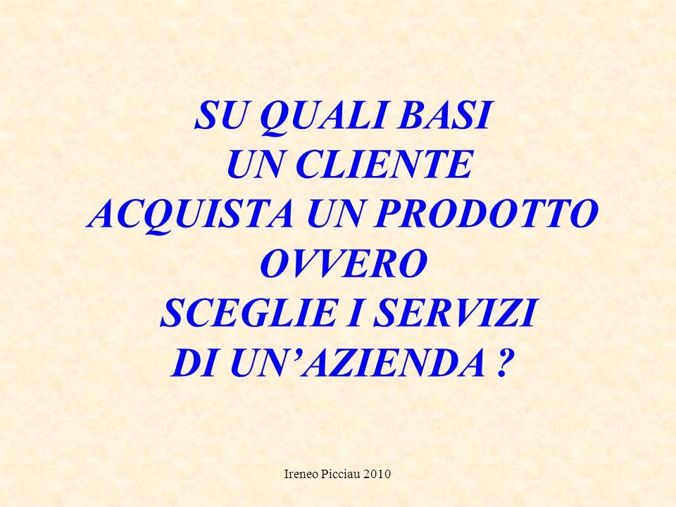 Ireneo Picciau 2010 GESTIONE DEI CLIENTI SEGUIRE i clienti acquisiti SVILUPPARE i clienti regolari TRASFORMARE i clienti occasionali in fedeli CONQUIS