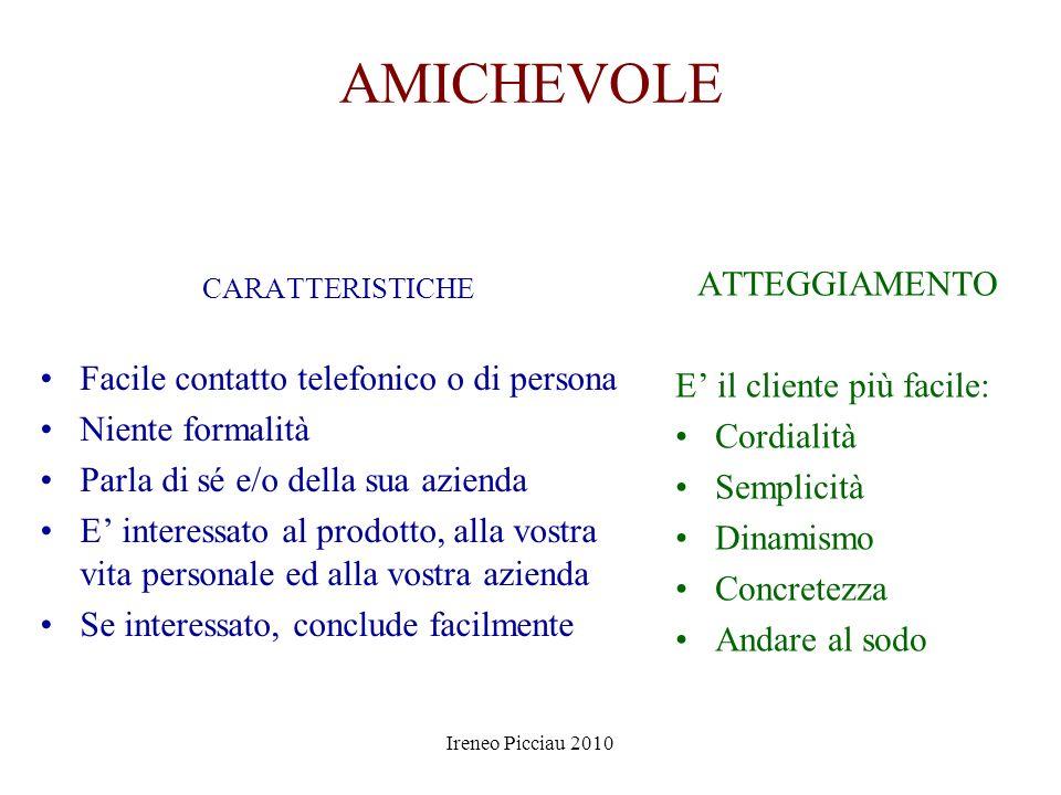 Ireneo Picciau 2010 TIPOLOGIE DI CLIENTI