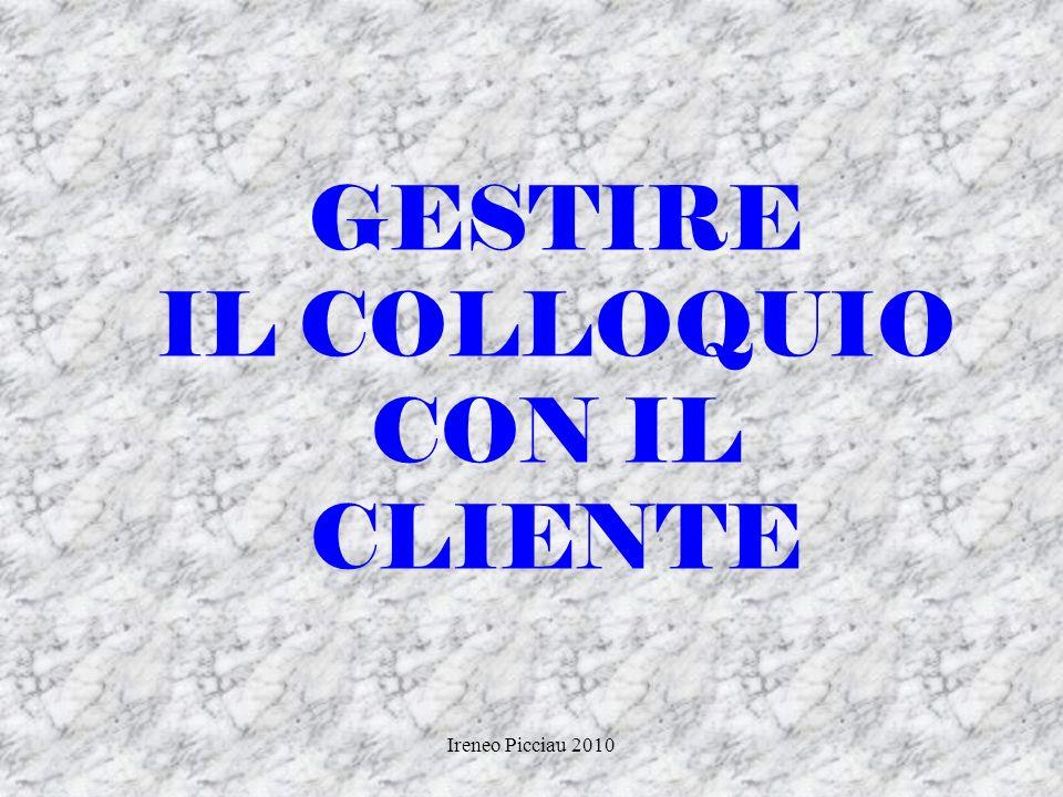 Ireneo Picciau 2010 DINAMICO/AUTORITARIO CARATTERISTICHE Parla velocemente Pressante Concreto In genere, rigido e freddo Studia linterlocutore ATTEGGI