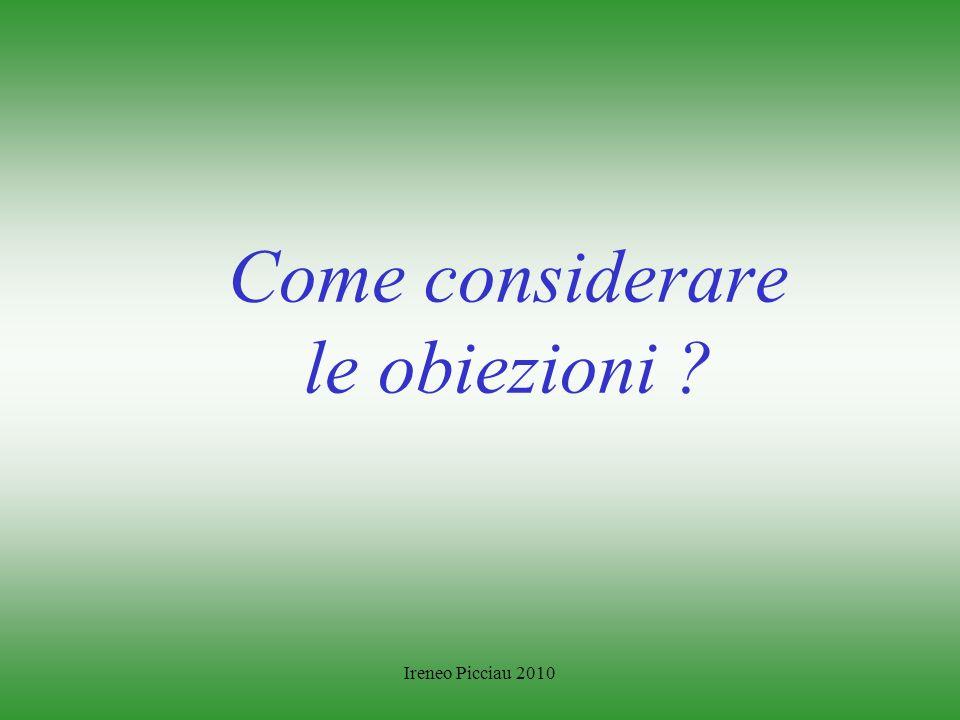 Ireneo Picciau 2010 LE FORMULE DI RIFIUTO PIU FREQUENTI Non sono interessato I vostri prezzi sono molto alti Lattività è in calo Non voglio cambiare f