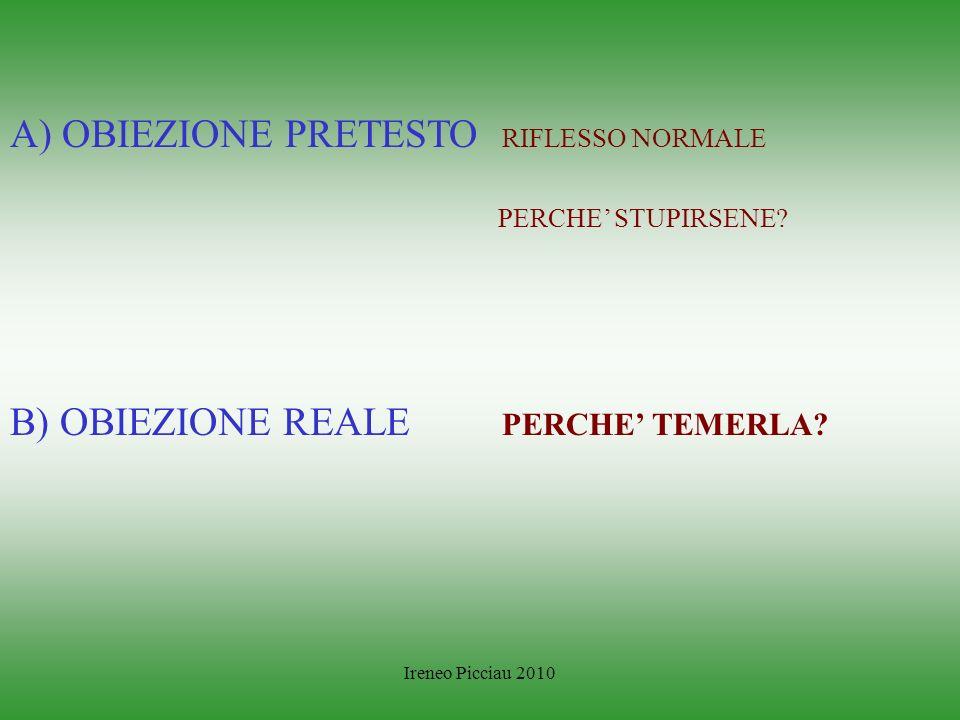 Ireneo Picciau 2010 Come considerare le obiezioni ?